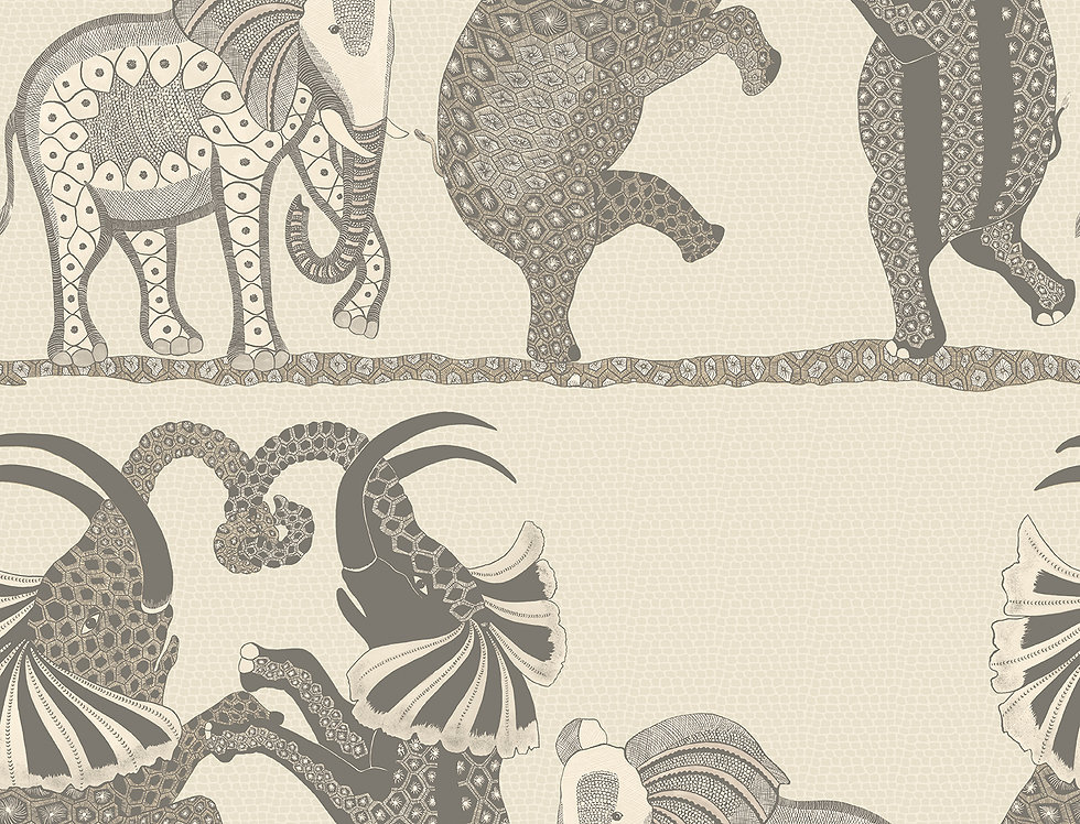 Cole & Son - Ardmore Safari Dance Pale Stone + Grey 109/8037