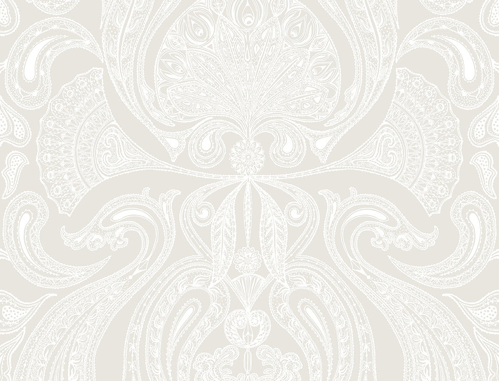 Cole & Son - Contemporary Restyled Malabar White on White 95/7040