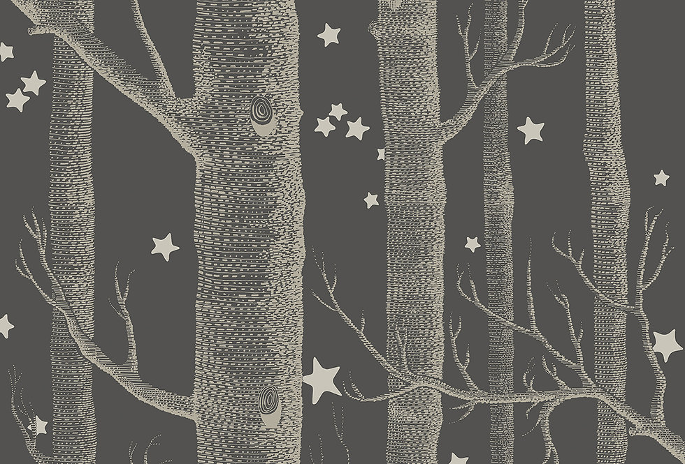 Cole & Son - Whimsical Woods & Stars Charcoal 103/11053