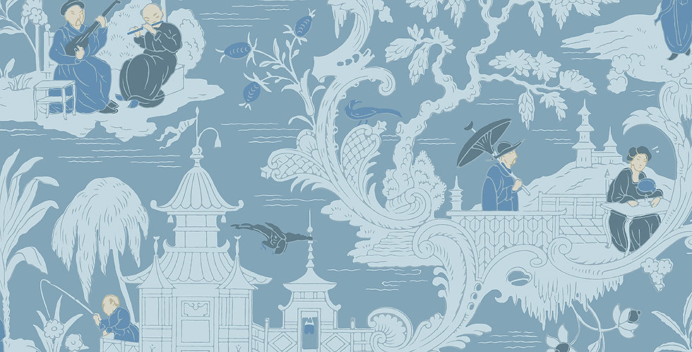 Cole & Son - Archive Anthology Chinese Toile Blue 100/8038