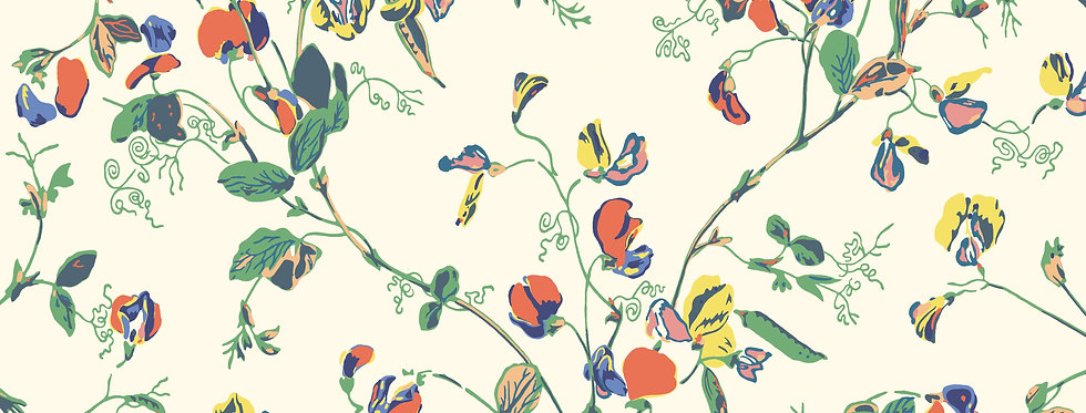 Cole & Son - Botanica Sweet Pea Autumnal Multi on Cream 115/11032