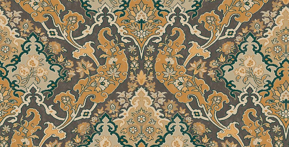 Cole & Son - Mariinsky Damask Pushkin Ginger & Charcaol 108/8042