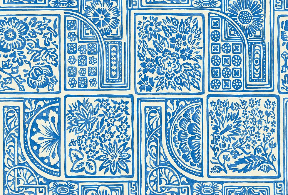Cole & Son - Mariinsky Damask Bellini Blue & White 108/9045