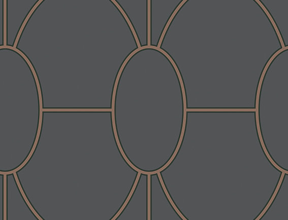 Cole & Son - Geometric II Riviera Charcoal 105/6029