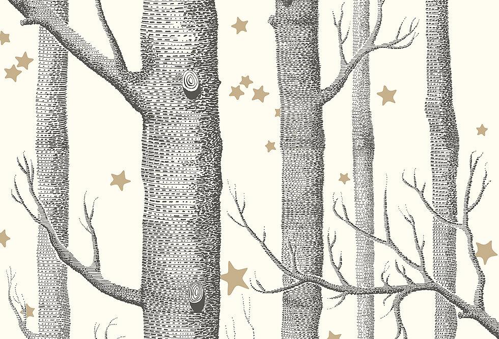 Cole & Son - Whimsical Woods & Stars Black & White 103/11050