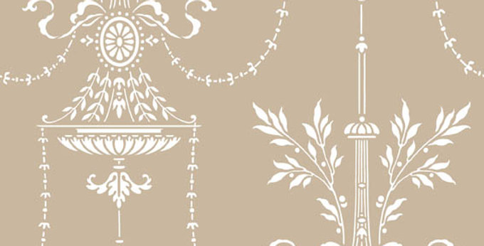 Cole & Son - Archive Traditional Dorset Taupe & Silver 88/7027