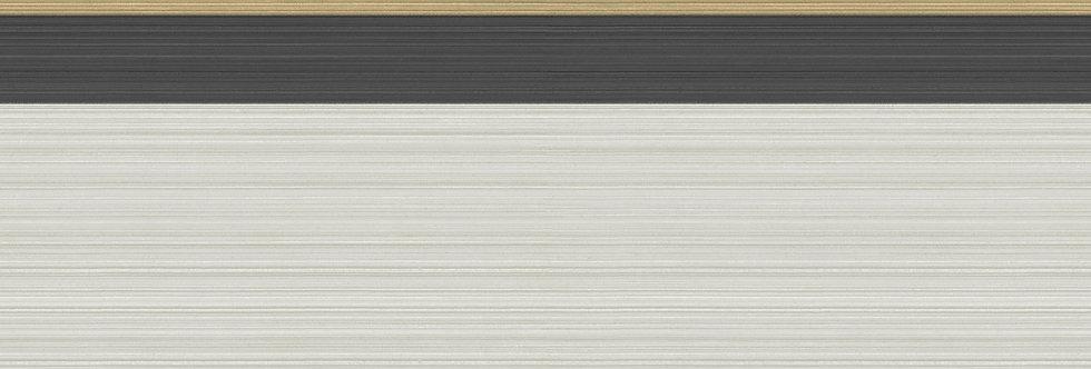 Cole & Son - Marquee Stripes Jaspe Border Linen, Black & Gold 110/10045