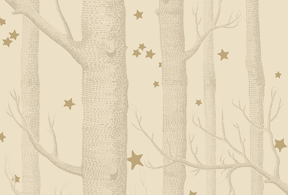 Cole & Son - Whimsical Woods & Stars Buff & Gold 103/11049