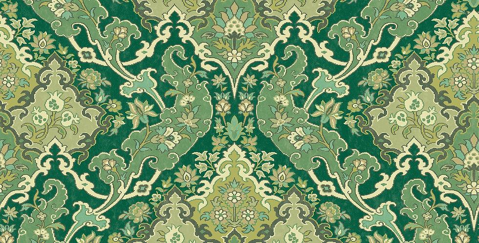 Cole & Son - Mariinsky Damask Pushkin Forest Green 108/8041
