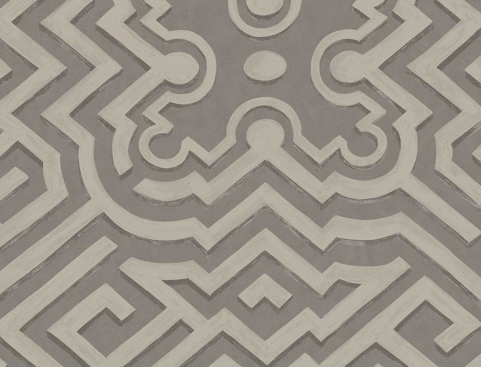 Cole & Son - HRP Palace Maze Dark Linen & Gilver 98/14056