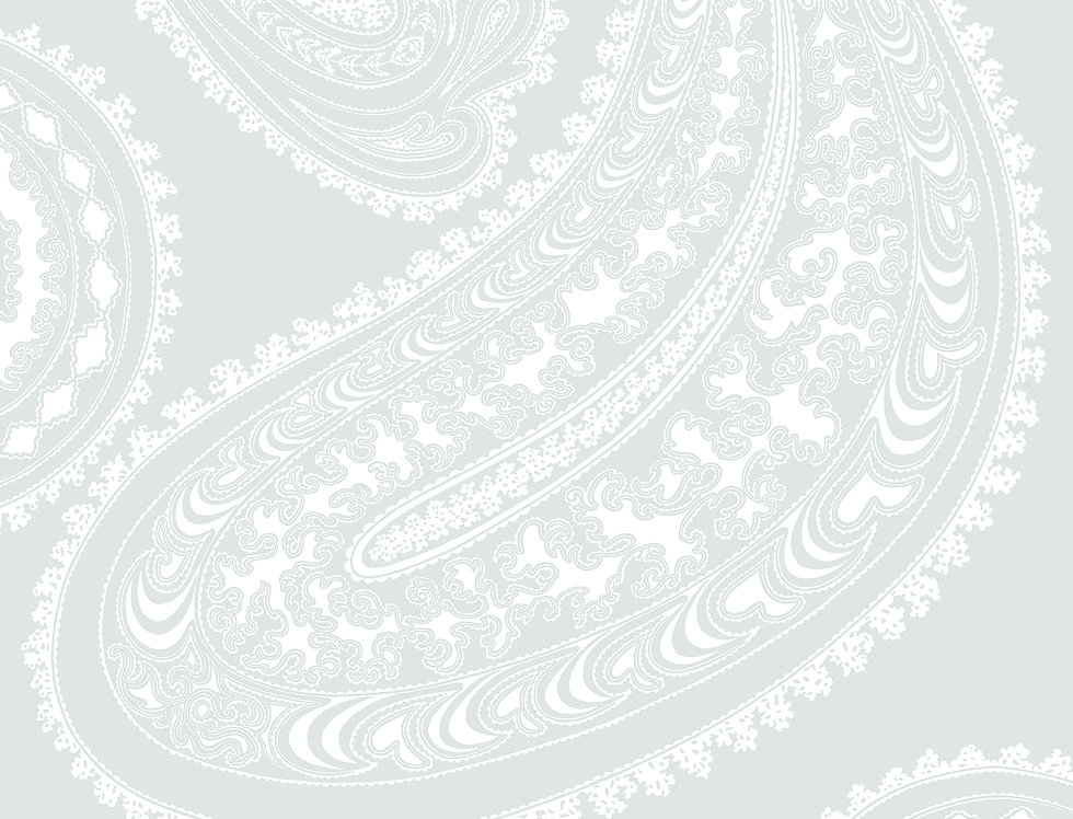 Cole & Son - Contemporary Restyled Rajapur White on Blue 95/2013