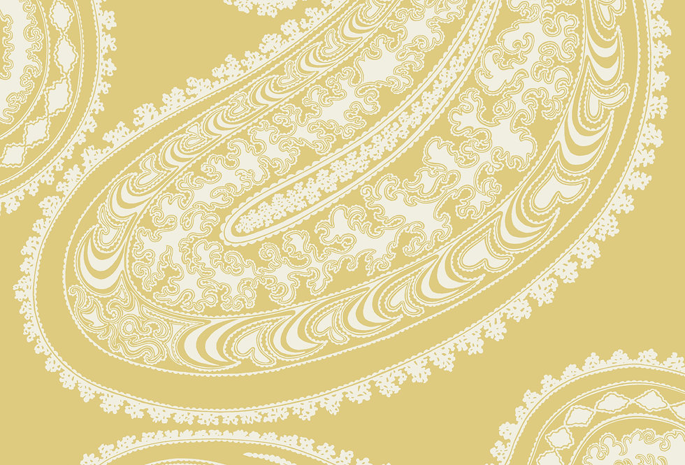 Cole & Son - Icons Rajapur Flock Yellow & White 112/9031