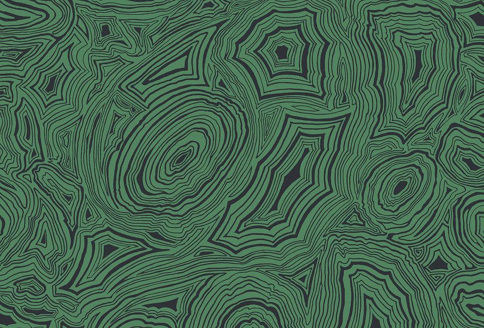 Cole & Son - Fornasetti Senza Tempo Malachite Emerald & Black 114/17035