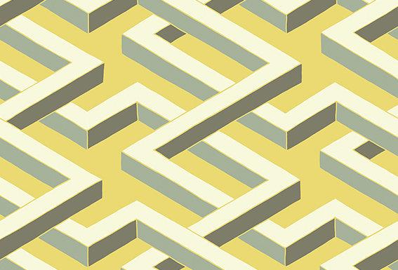 Cole & Son - Geometric II Luxor Green 105/1005
