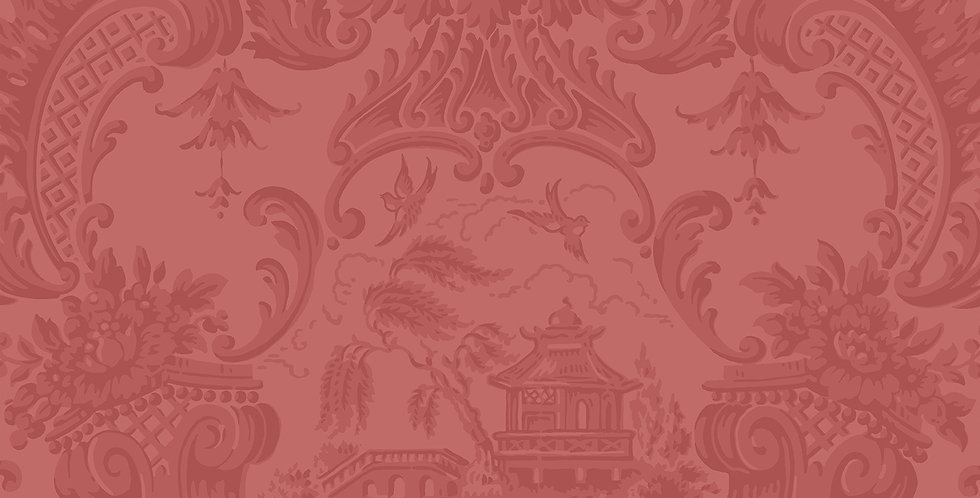 Cole & Son - Archive Anthology Chippendale China Red 100/3015