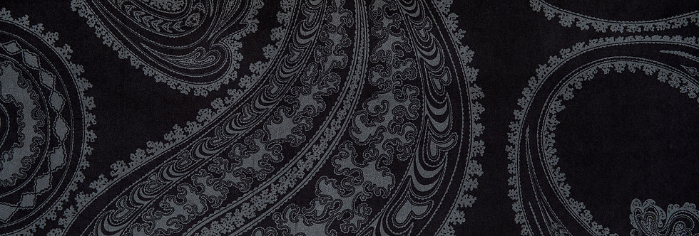 Cole & Son - The Contemp Coll Fabrics Rajapur Grey on Black F111/10037
