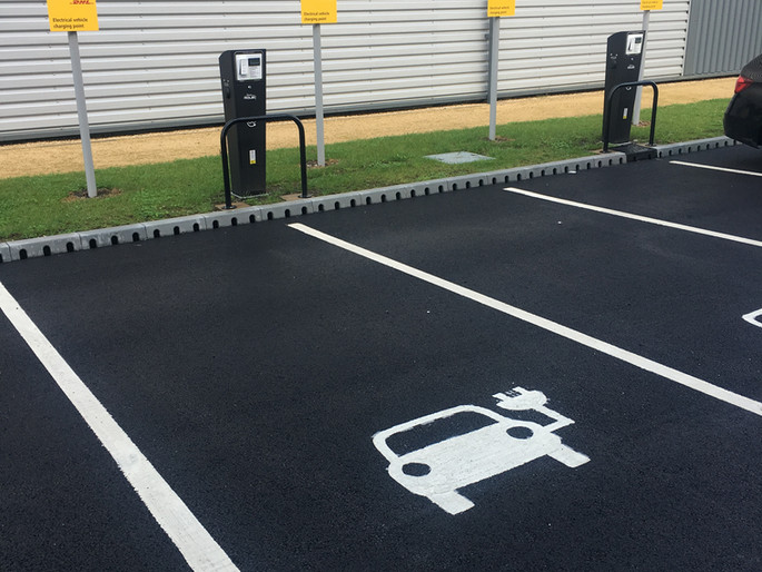 EV Charge Point at DHL Stoke