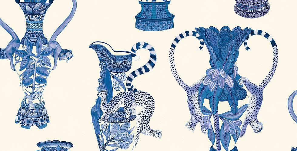 Cole & Son - Ardmore Khulu Vases Blue + White 109/12059
