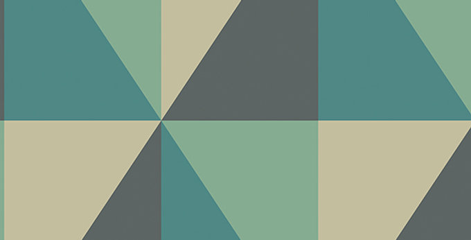 Cole & Son - Geometric II Apex Grand Teal 105/10045