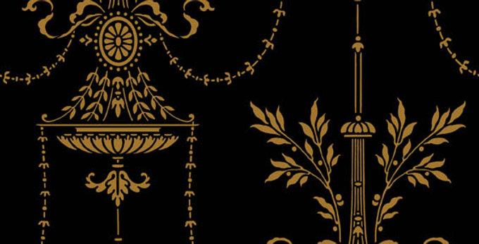 Cole & Son - Archive Traditional Dorset Black & Gold 88/7028