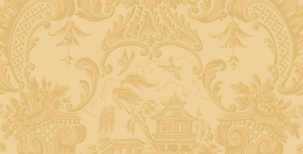 Cole & Son - Archive Anthology Chippendale China Yellow 100/3014