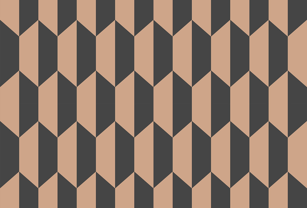 Cole & Son - Icons Petite Tile Charcoal & Bronze 112/5022