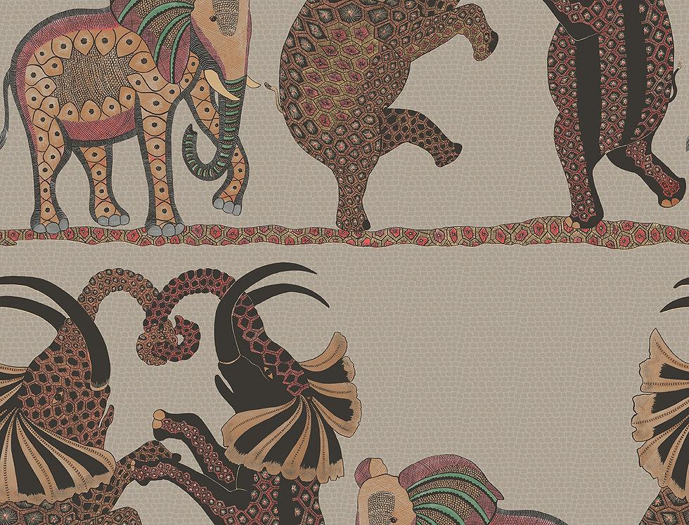 Cole & Son - Ardmore Safari Dance Red + Linen 109/8038