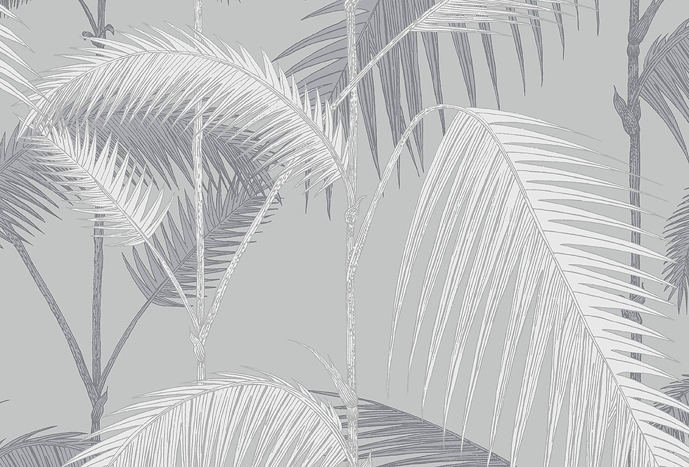 Cole & Son - Contemporary Restyled Palm Jungle Lilac Grey & Grit 95/1007