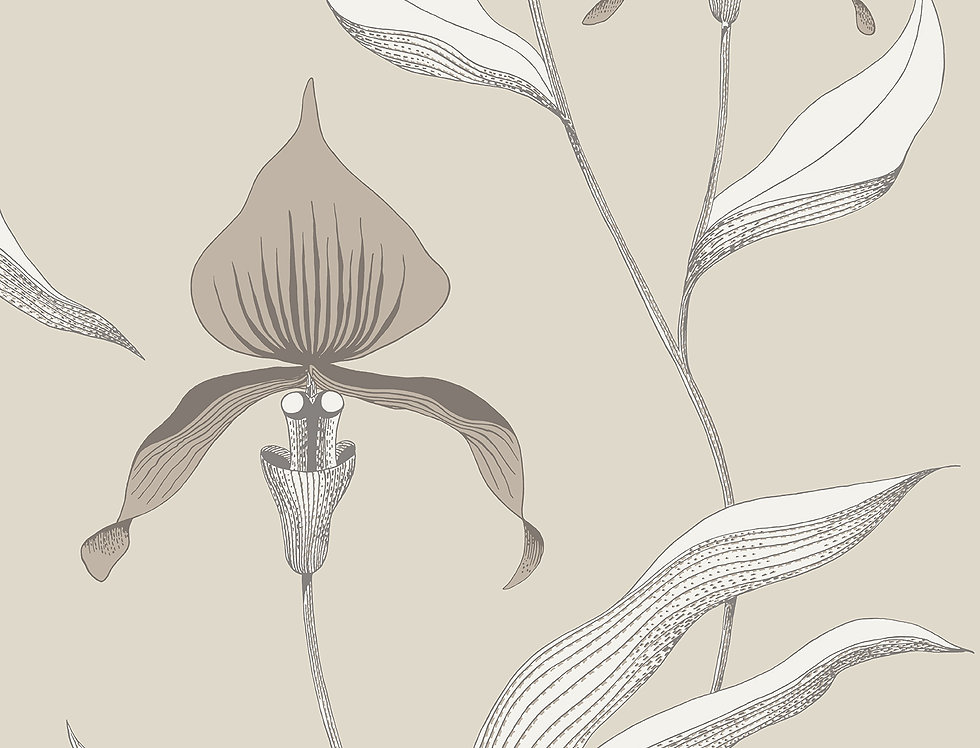 Cole & Son - Contemporary Restyled Orchid Linen & White 95/10058