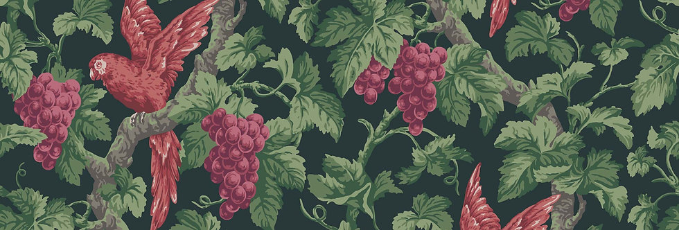Cole & Son - The P/wood Coll Woodvale Orchard Rose, Green, Charcoal 116/5020