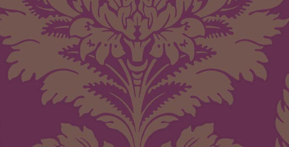 Cole & Son - Archive Traditional Hovingham Mulberry & Pewter 88/2009