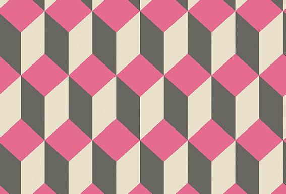 Cole & Son - Geometric II Delano Pink & Black 105/7033