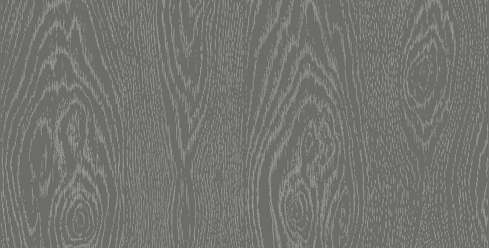 Cole & Son - Curio Wood Grain Black & Silver 107/10046