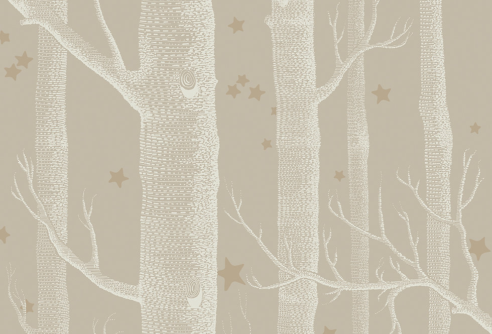 Cole & Son - Whimsical Woods & Stars Linen 103/11047