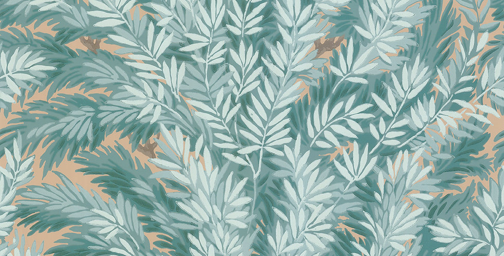 Cole & Son - Archive Anthology Florencecourt Teal 100/1001