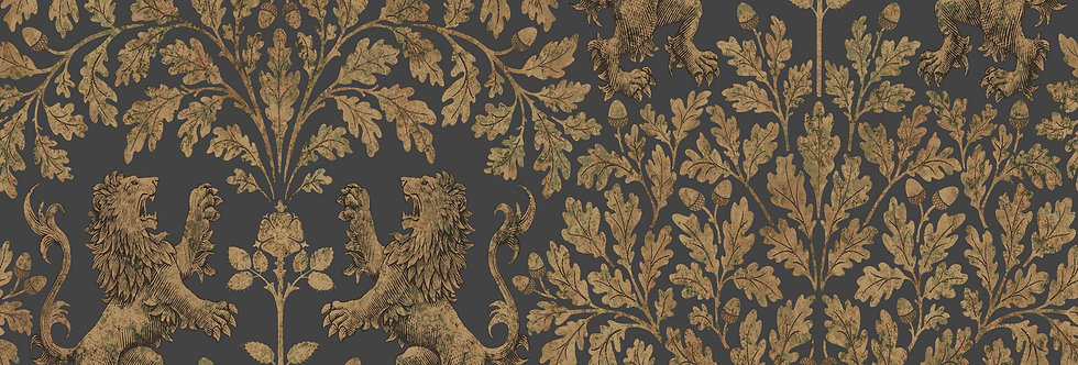 Cole & Son - The P/wood Coll Boscobel Oak Metallic Gold on Black 116/10036