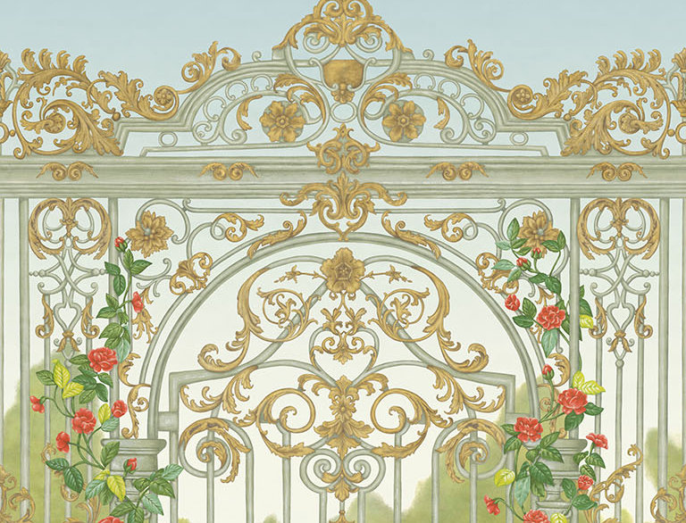 Cole & Son - HRP GM Spring Green, Soft Olive & Rouge 118/8017
