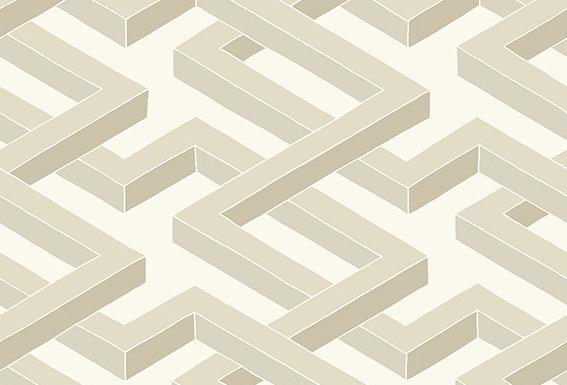 Cole & Son - Geometric II Luxor White 105/1003
