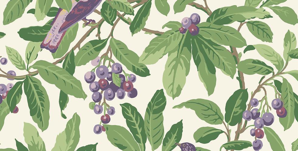 Cole & Son - HRP Royal Garden Green & Purple 98/1001