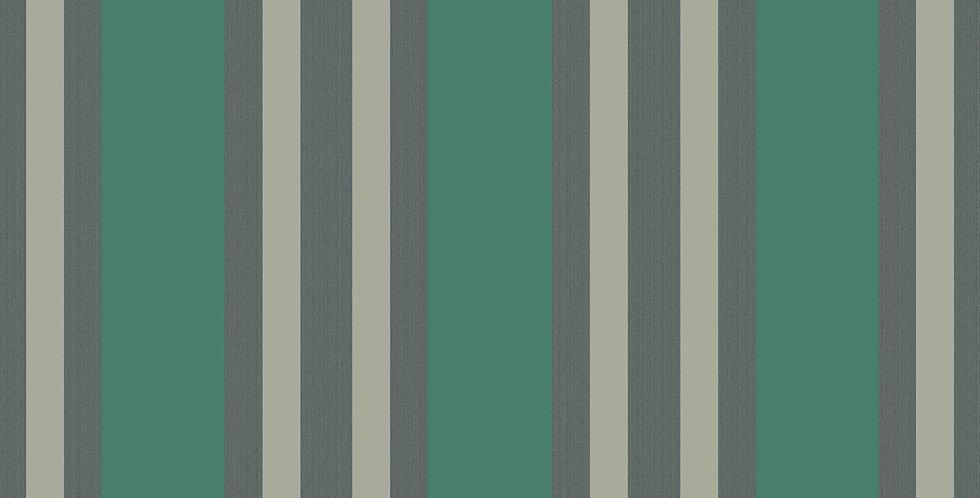 Cole & Son - Marquee Stripes Polo Stripe Teal & Gilver 110/1002
