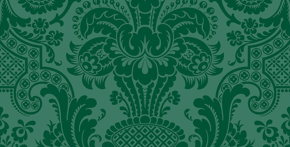 Cole & Son - Mariinsky Damask Petrouchka Green 108/3012