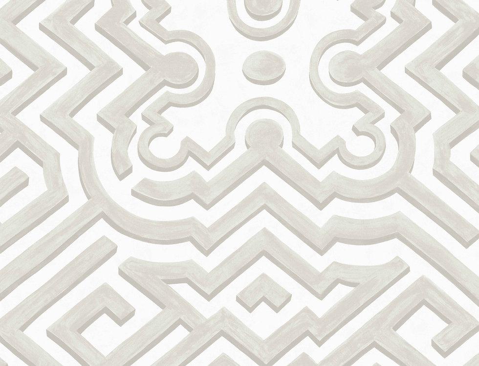 Cole & Son - HRP Palace Maze Stone & White 98/14058