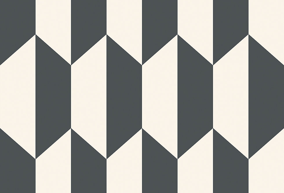 Cole & Son - Geometric II Tile Black & White 105/12050