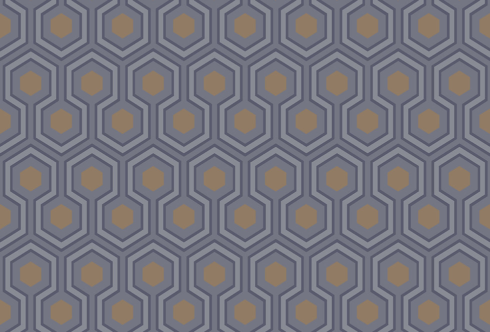 Cole & Son - Contemporary Restyled Hicks' Hexagon Grey & Bronze 95/3015
