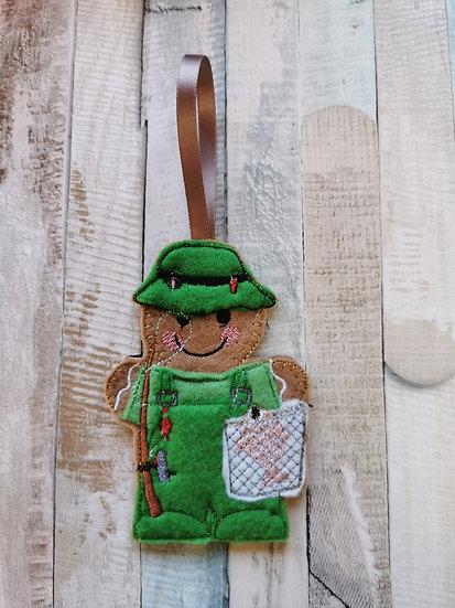 Fisherman Angler Gingerbread