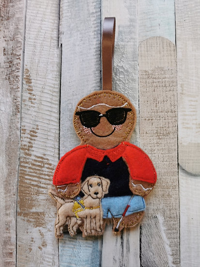 Blind Gingerbread with guide dog