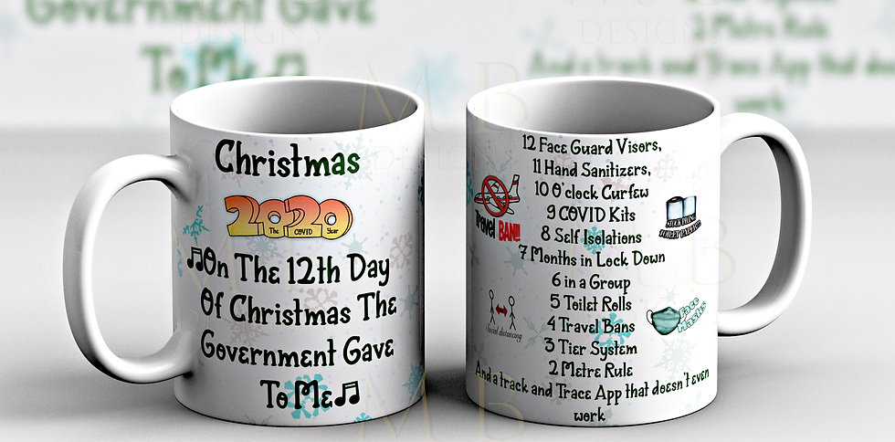 Covid Government 12 days mug