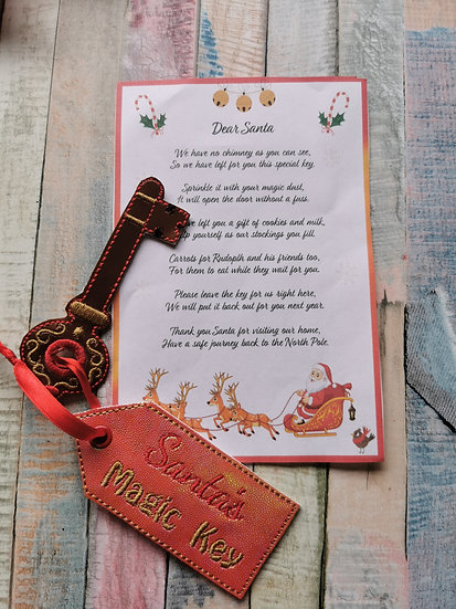 Santa's magic Key and Letter