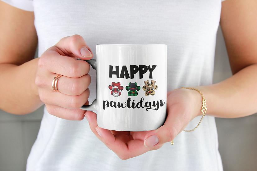 Happy Pawlidays Mug