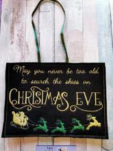 Christmas Eve Plaque